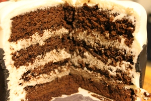 Chocolate Mud Cake with Cookies and Cream Buttercream